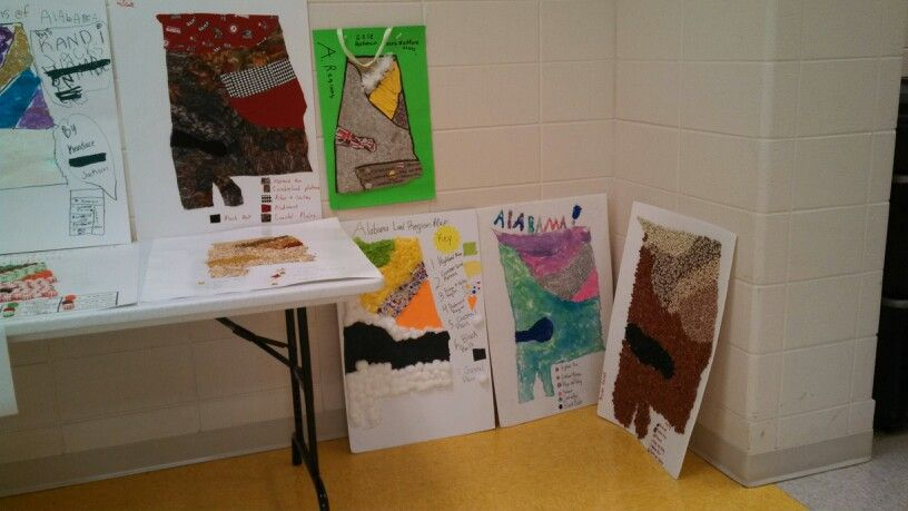 Land Region Projects For 4th Grade Alabama Teaching
