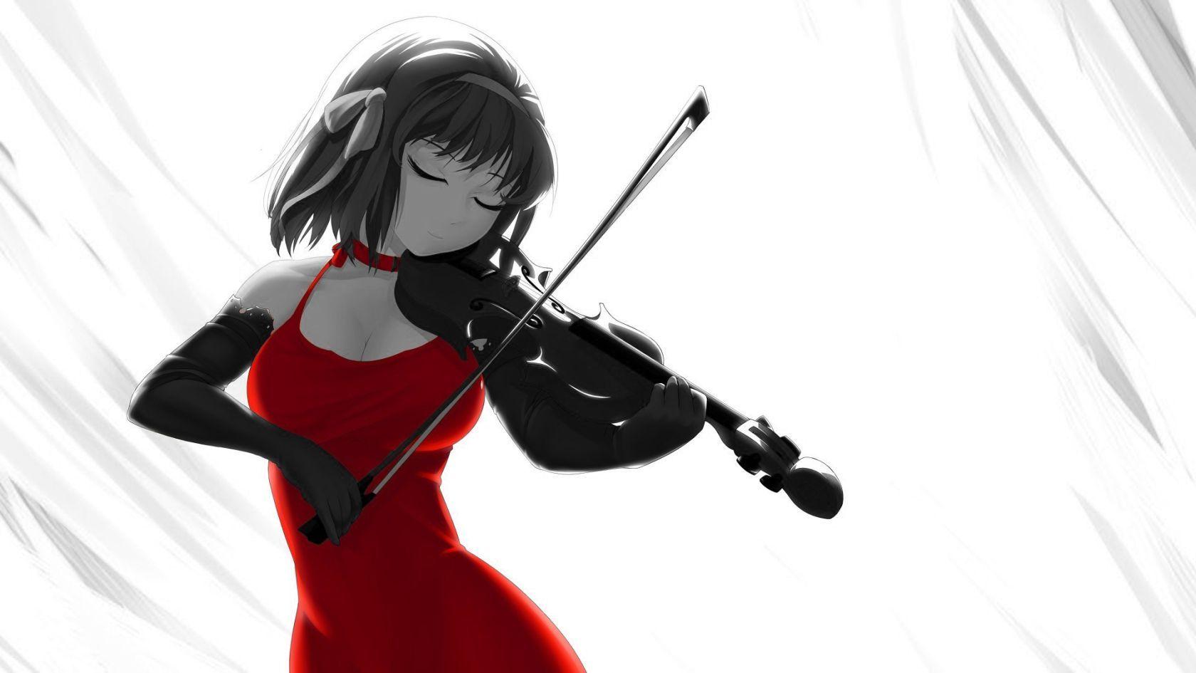 anime violinist | Violin girl Music Color Anime HD ...