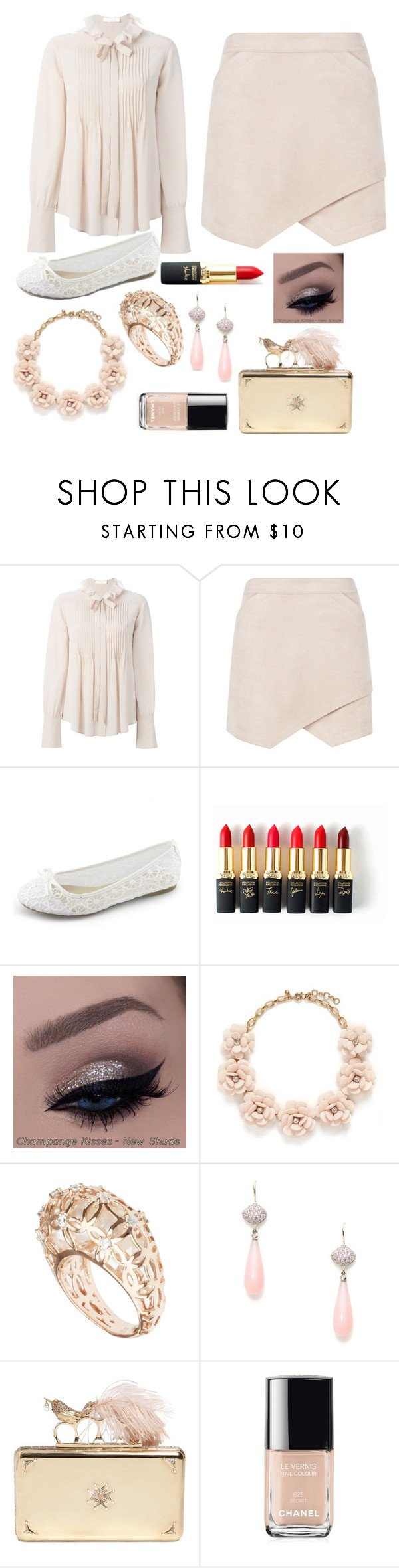 """Hard to See"" by puppydog28 ❤ liked on Polyvore featuring Chloé, BCBGMAXAZRIA, L'Oréal Paris, J.Crew, Michael Valitutti, Jane Taylor, Alexander McQueen, Chanel, women's clothing and women"
