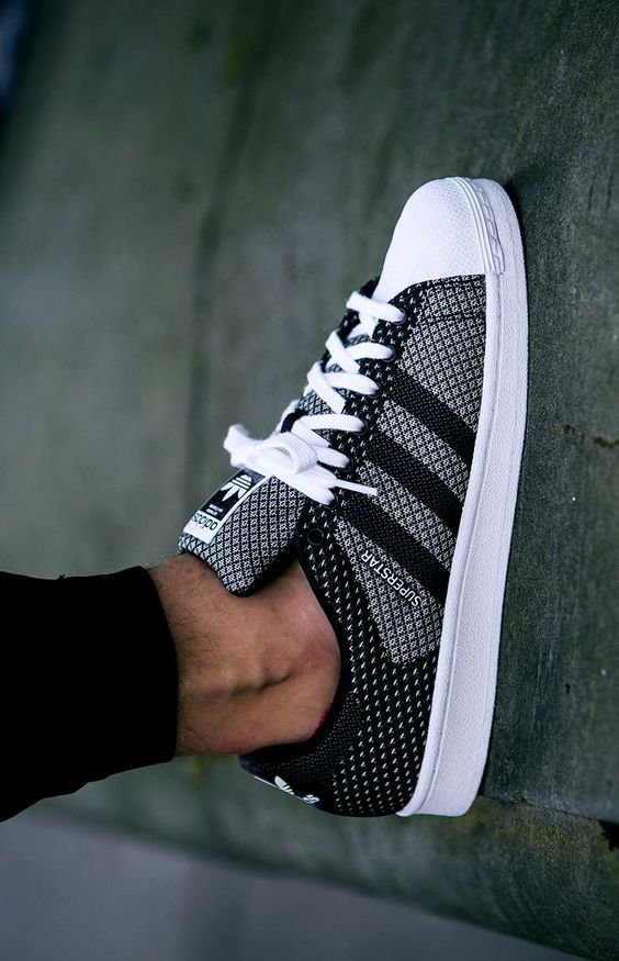 Hôte cordial Adidas Superstar Homme Maille Grise, Blanc ...