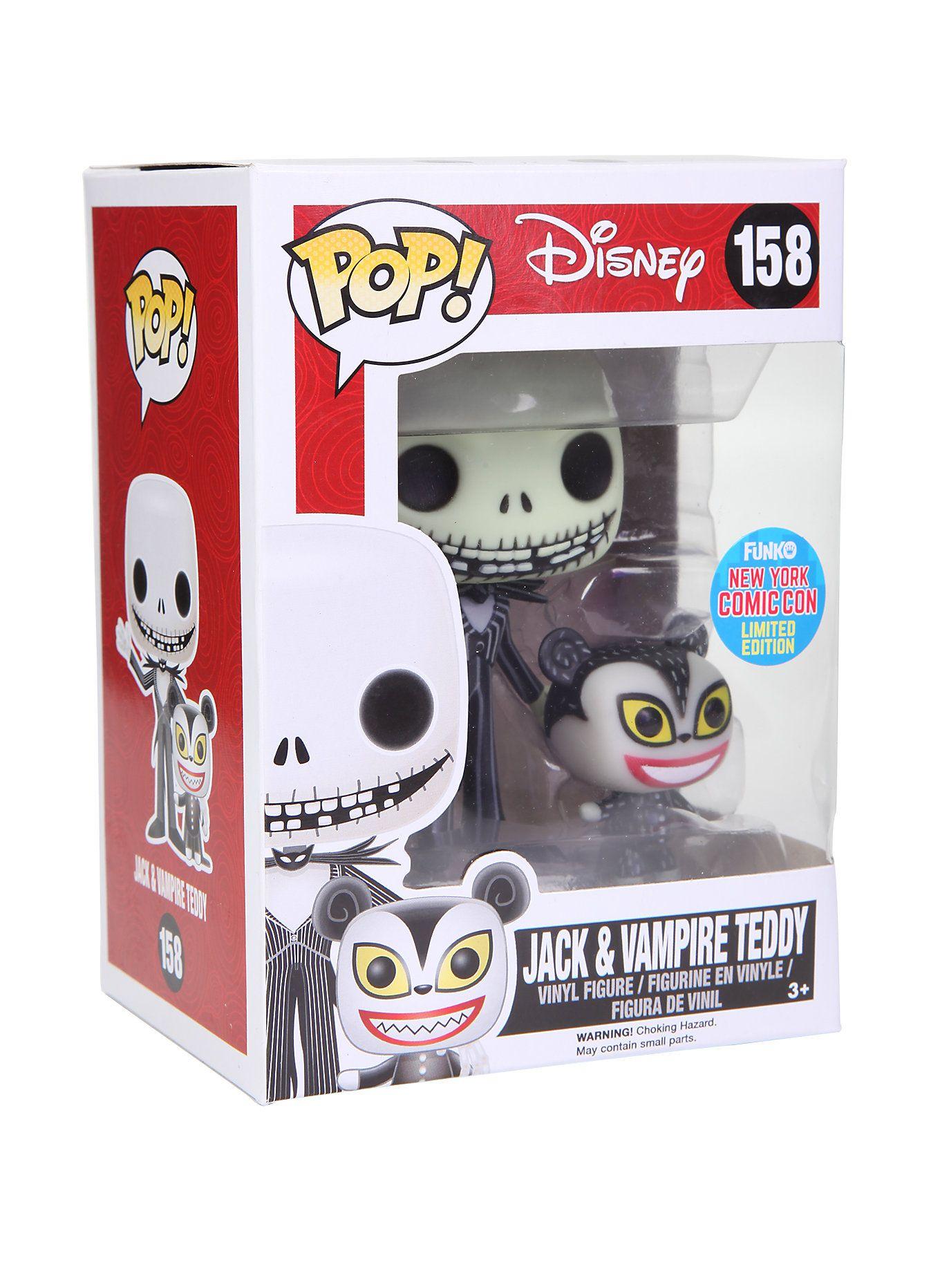 Funko The Nightmare Before Christmas Pop! Jack & Vampire Teddy ...