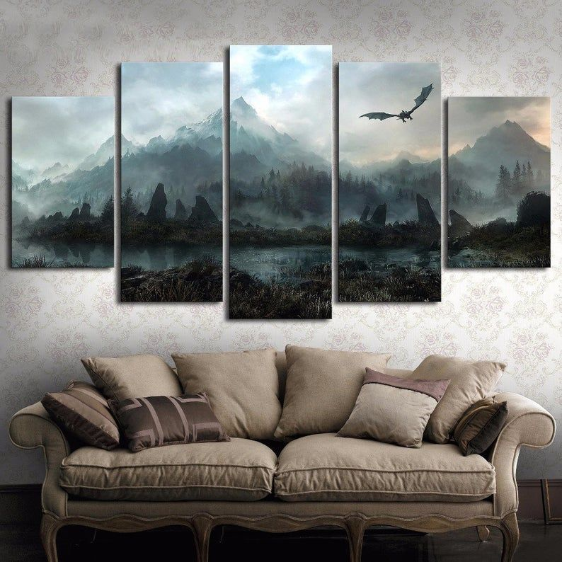 Game Of Thrones Daenerys Targaryen Jon Snow Ned Stark House 5 Etsy Wall Art Pictures Living Room Canvas Canvas Wall Art