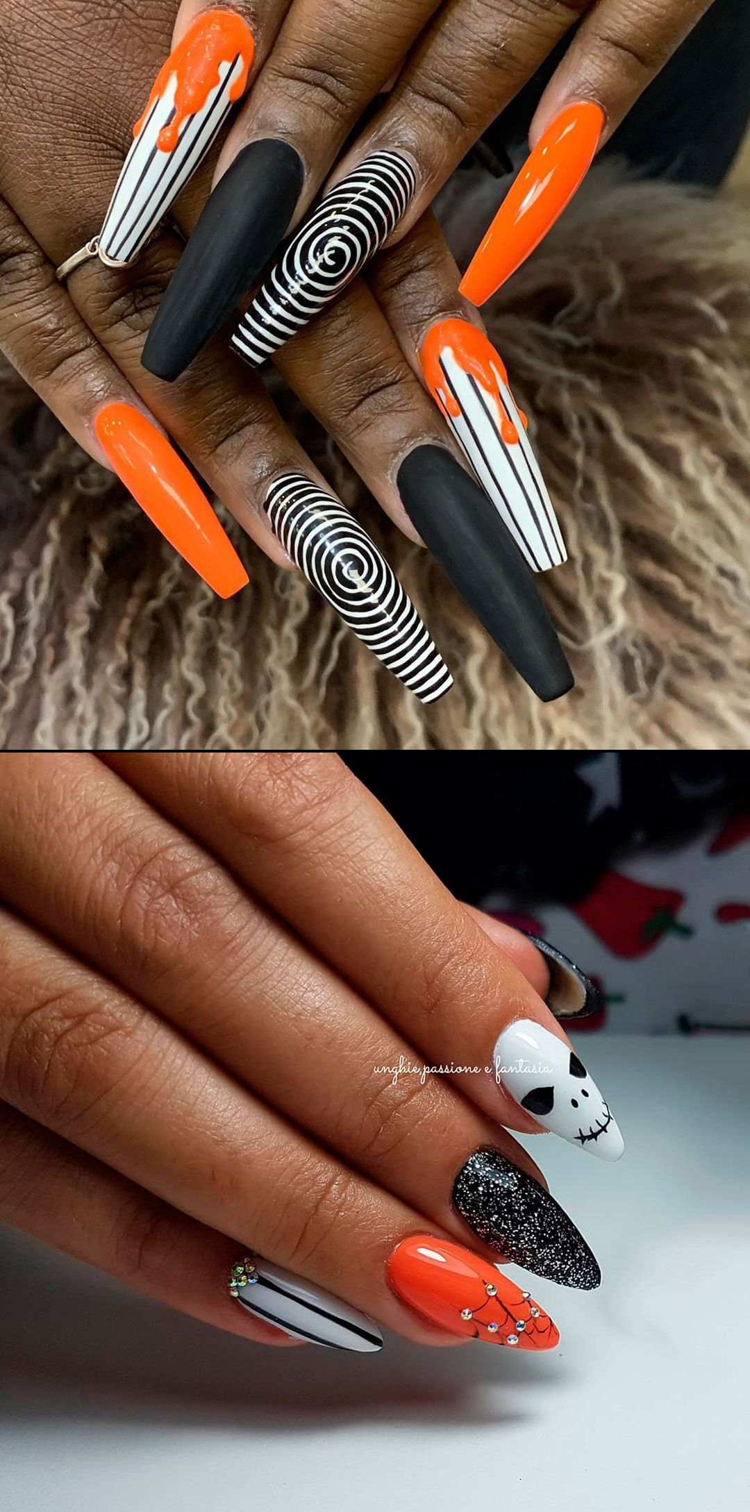 Pin By Michelle On Nails Halloween Nails Coffin Shape Nails Pumpkin Nails