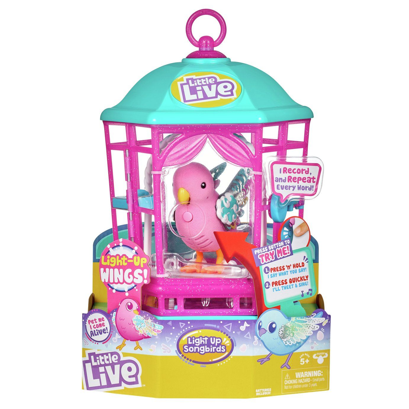 Buy Little Live Pets Bird Cage Playsets And Figures Argos In 2020 Little Live Pets Pet Bird Cage Parrot Toys
