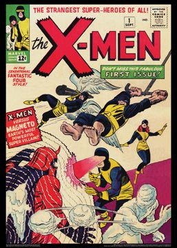 X Men 1 Sept 1963 Vintage Marvel Comics Cover Poster Reprint Marvel Comics Covers Comic Book Superheroes Superhero Comic