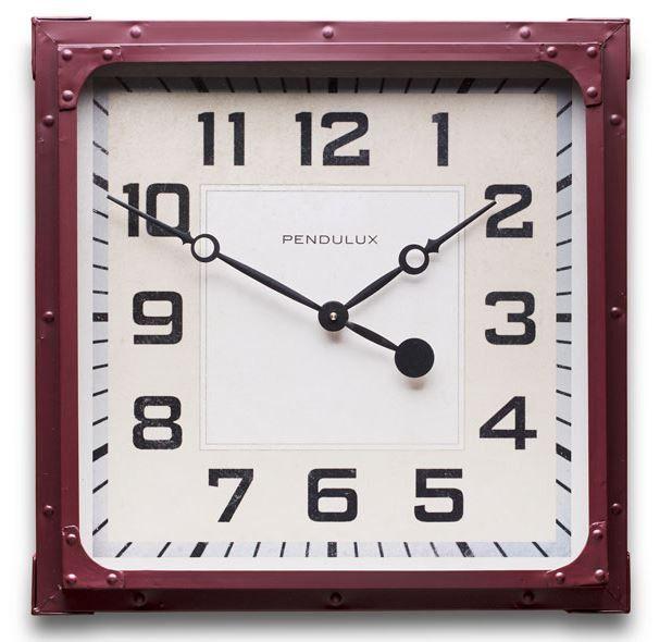 Red Gas Station Wall Clock Clock Wall Clock Vintage Wall Clock