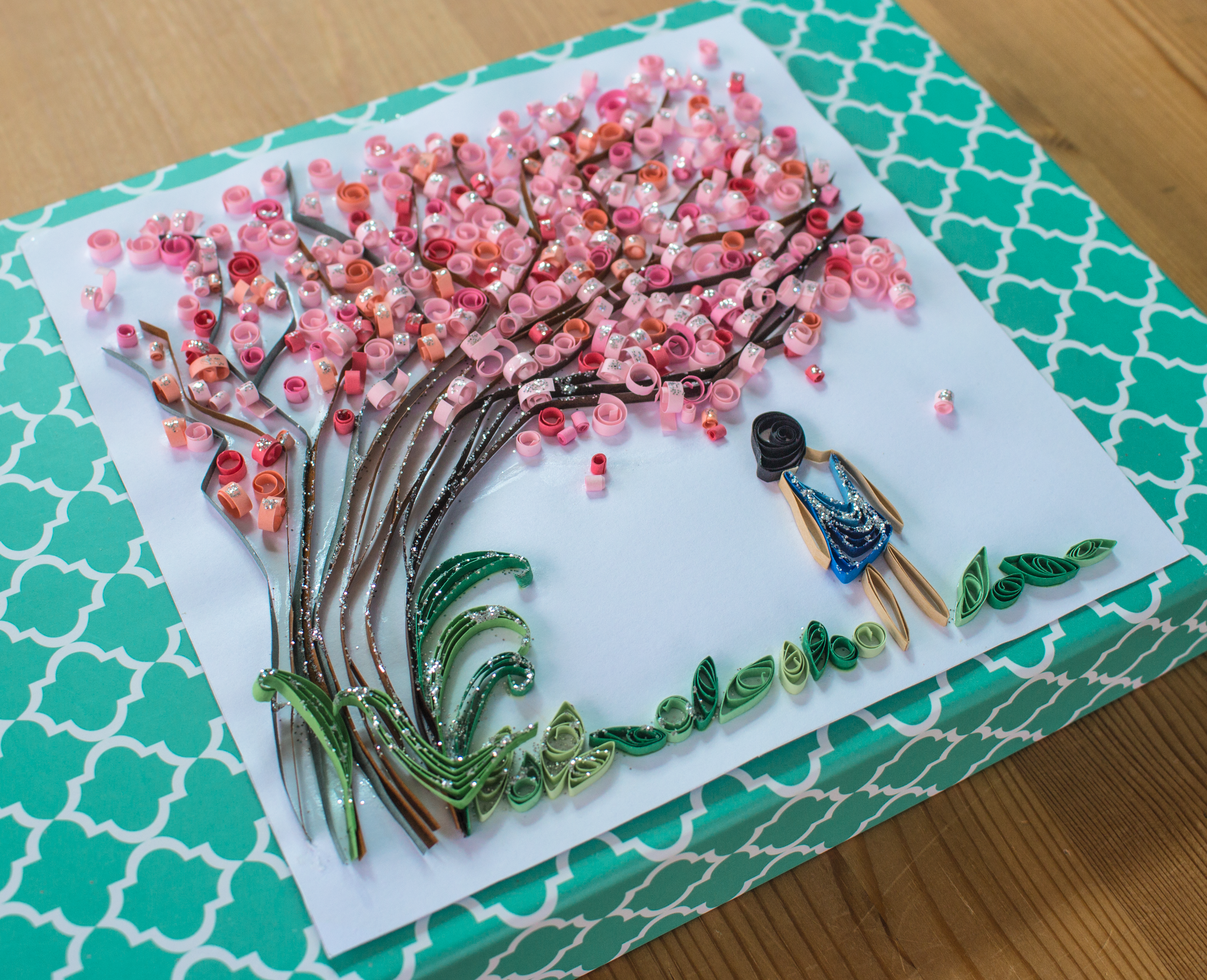 Cherry Blossom Tree Quilling Paper Quilling Patterns Paper Quilling Cards Paper Quilling