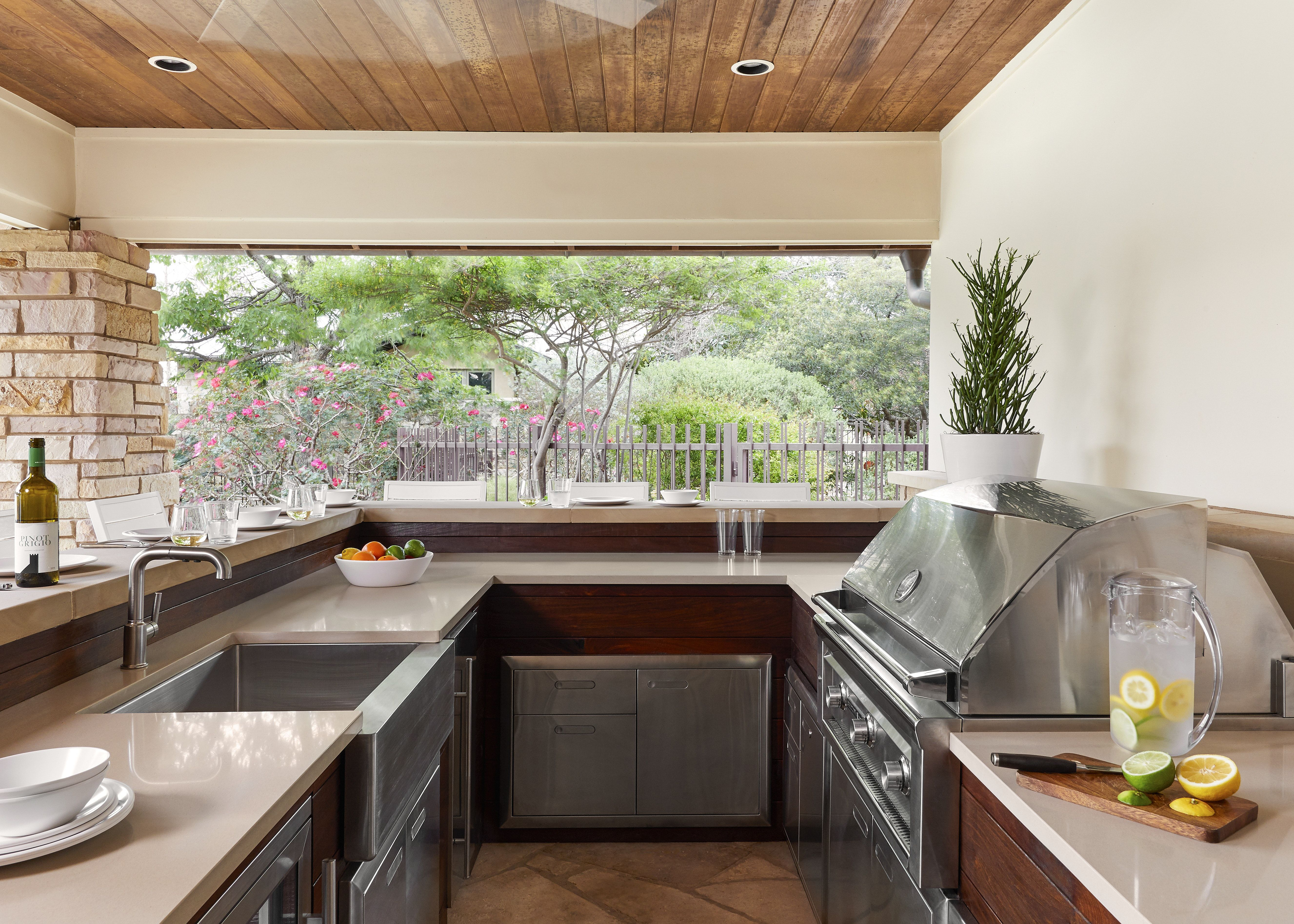 Lake Austin Remodel, Outdoor Kitchen with Ipe cabinetry | :: OUTDOOR ...