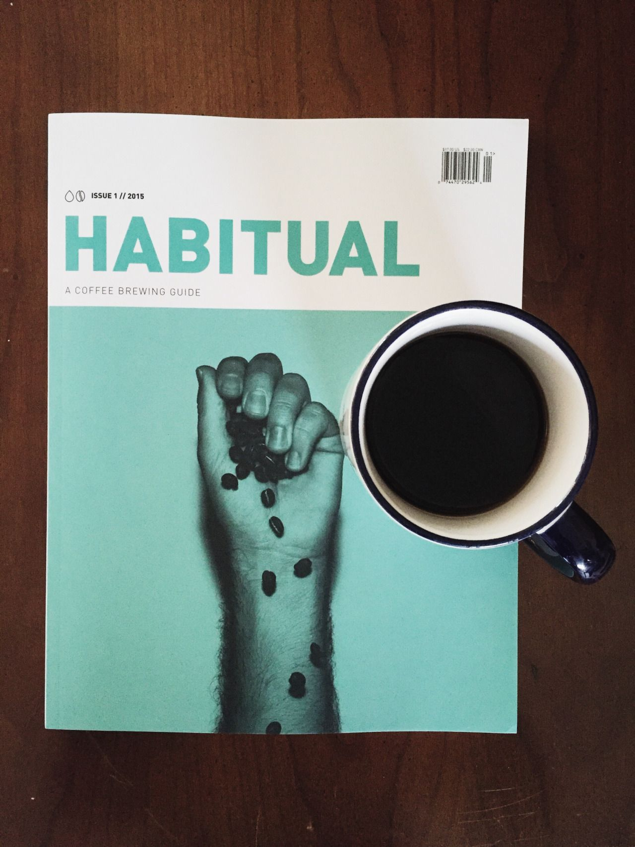 Enjoying my Habitual magazine from a recent... at coffee with kevin
