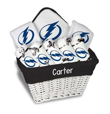 Our personalized tampa bay lightning large gift basket is a our personalized tampa bay lightning large gift basket is a perfect baby gift with 5 burp negle Images