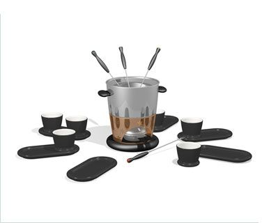 Michael Graves Fondue Set Tableware Michael Graves Glassware