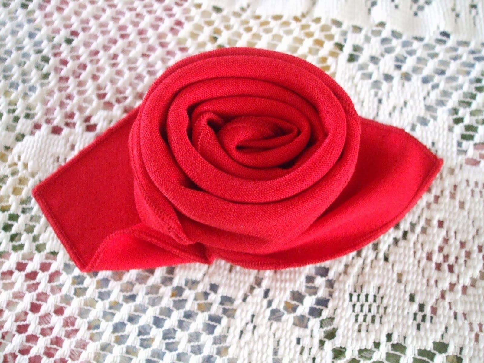 Rosemary S Sampler Napkin Folding A Rose Napkin Folding Napkin Folding Rose Cloth Napkin Folding