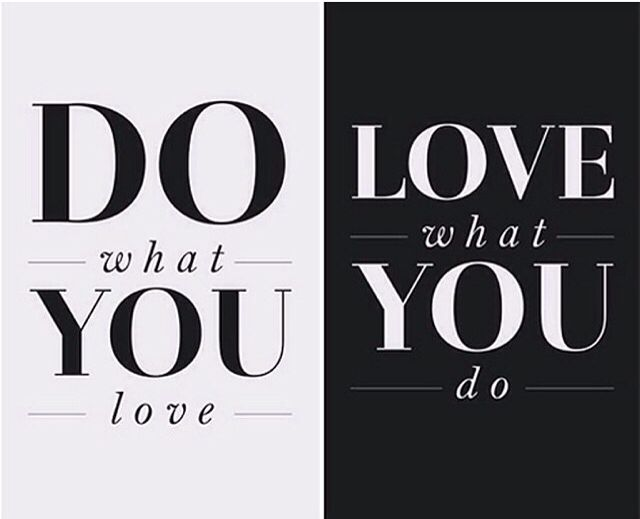 When we are passionate about what we do or what we have achieved...Success will Follow!  So Do What You Love to Love What You Do...