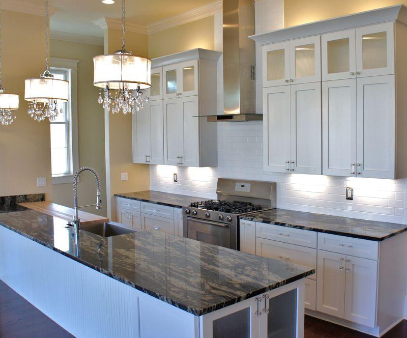 Costco Cabinetry Island White Cupboards Kitchen Black