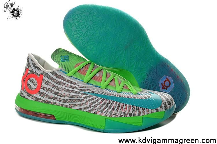 check out 8eb12 2ece0 Low Price Womens Nike KD 6 DC Preheat Gamma Blue Dusty Grey - Flash Lime  618216-400 Basketball Shoes Shop