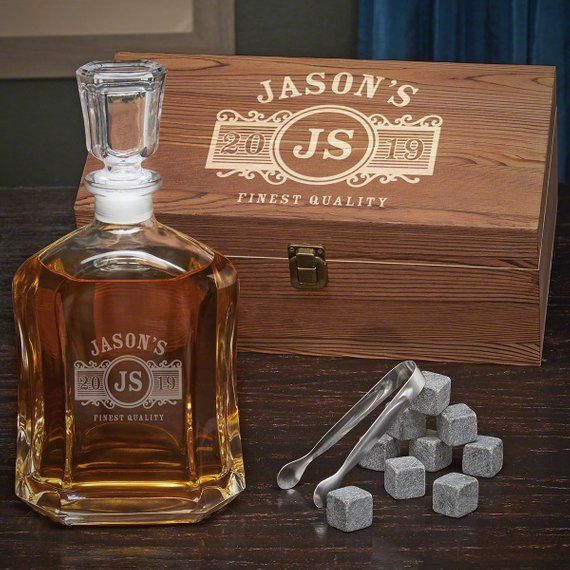 Marquee Argos Custom Decanter Set Custom Whiskey Decanter Engraved Liquor Decanter Whiskey Connoisseur Gift Whiskey Stones Retirement Mini Liquor Bottles Whiskey Decanter Whiskey