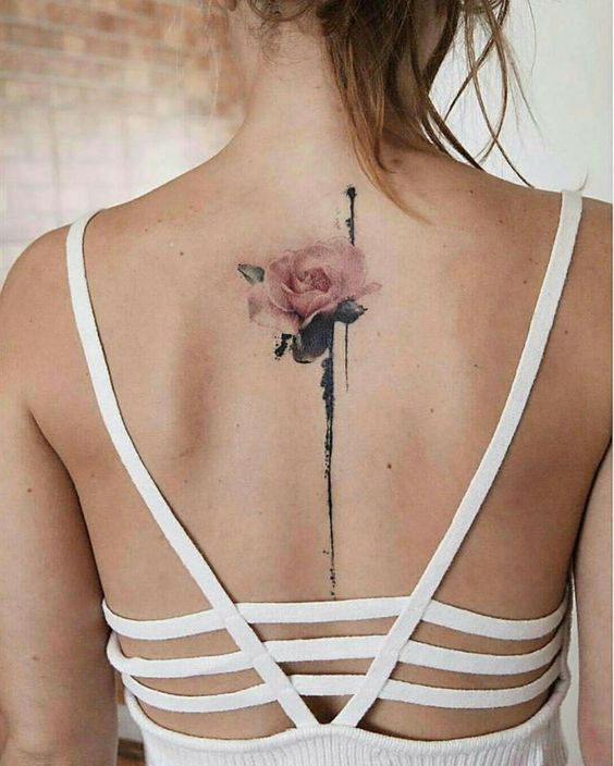 Tattoo Back Tattoo English Short Sentence Tattoo Spinal Tattoo Tattoo Quotes Meaningful Tattoo Creative Tatt Flower Spine Tattoos Spine Tattoo Neck Tattoo