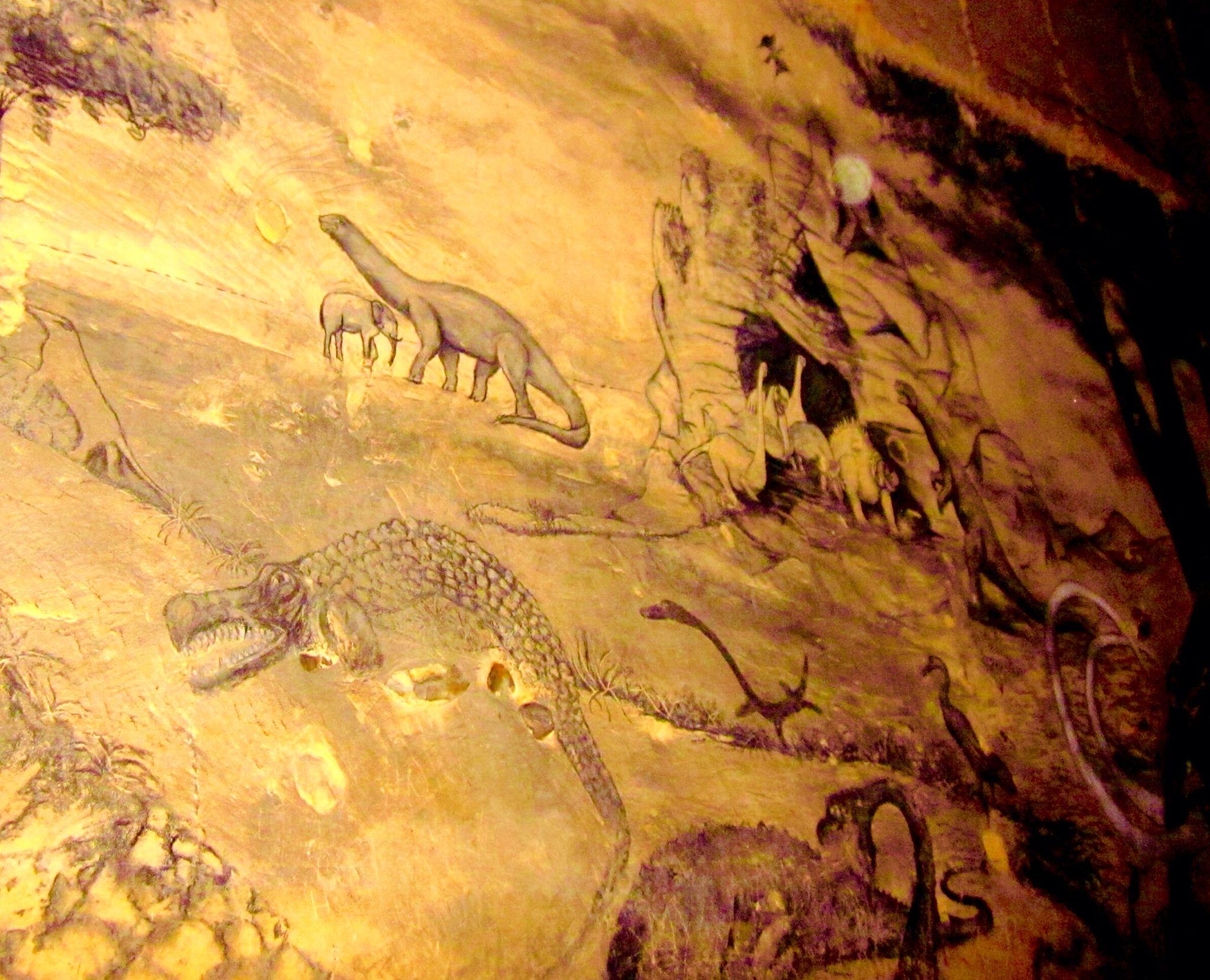 Caveman And Dinosaurs : Ancient cave drawing dinosaurs drawings