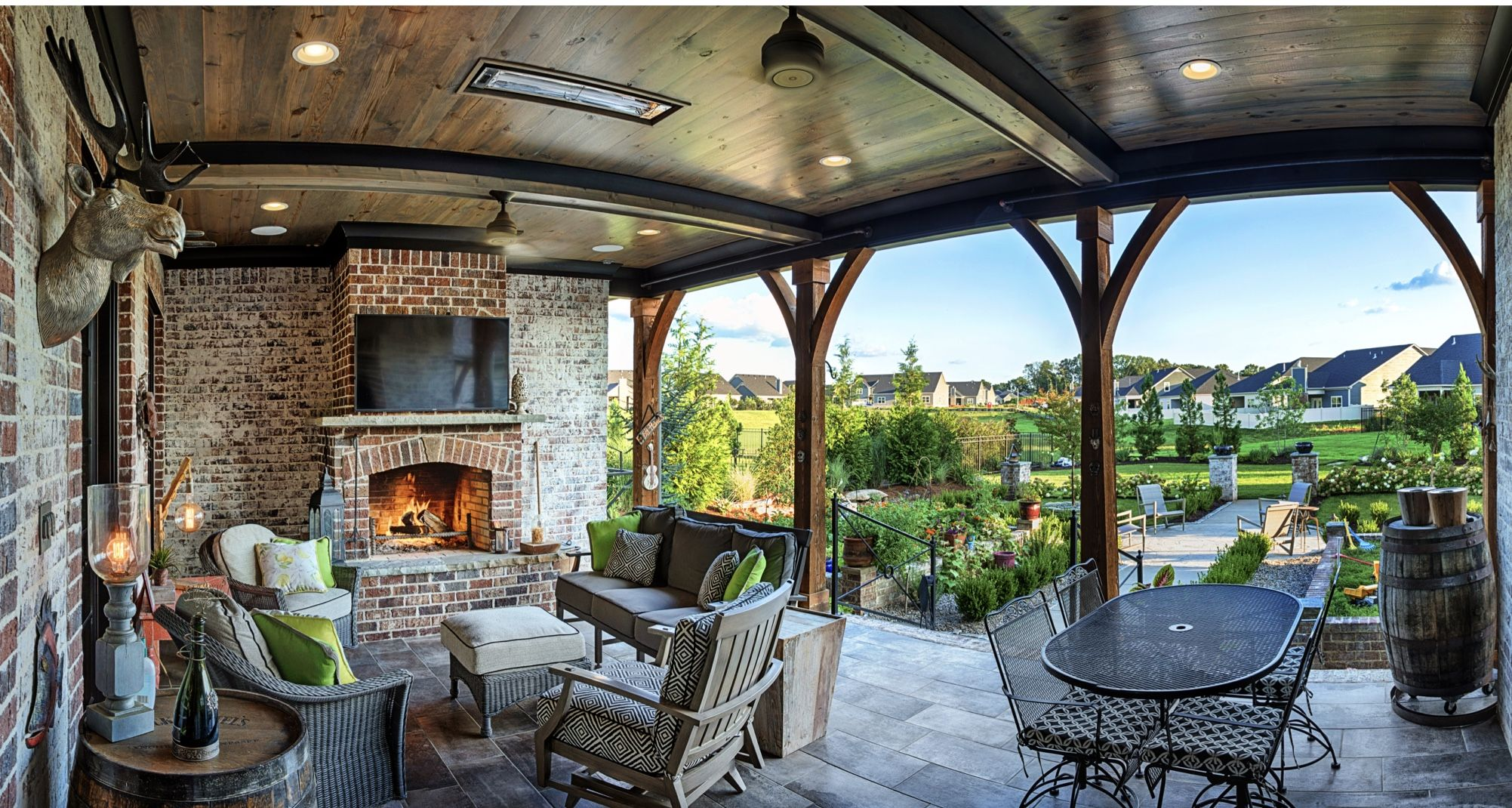 An outdoor living space is one of our favorite features in ... on Complete Outdoor Living id=30491