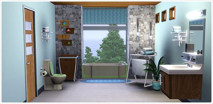 Best Mid Century Modern Bed And Bath Set Store The Sims™ 3 400 x 300