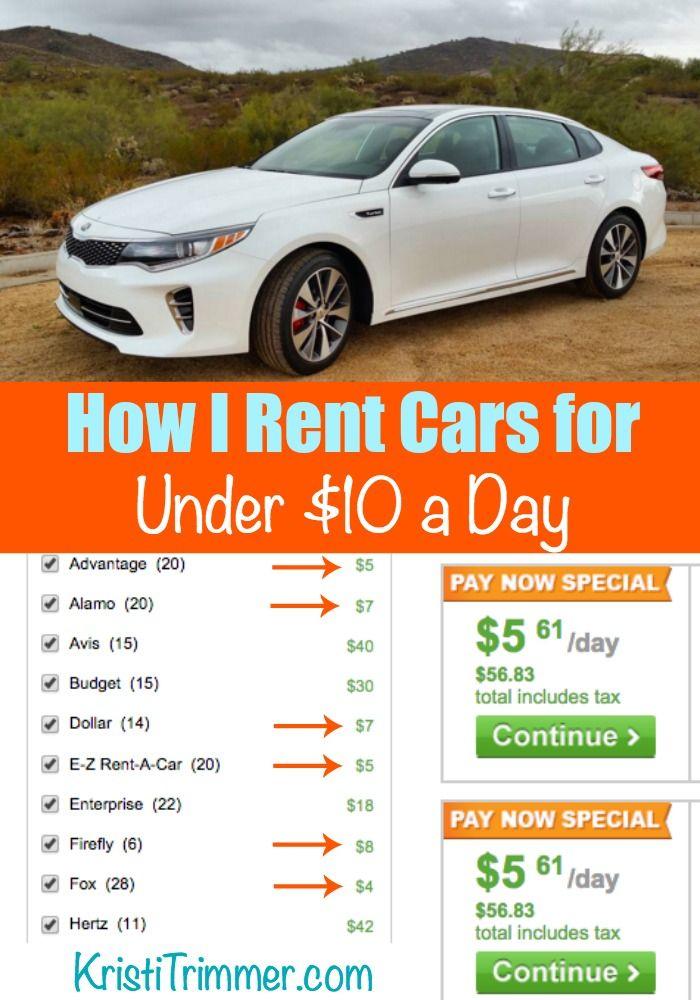 How I Rent Cars For Under 10 A Day Cheap Car Rental Car Rental Deals Rental Car Discounts