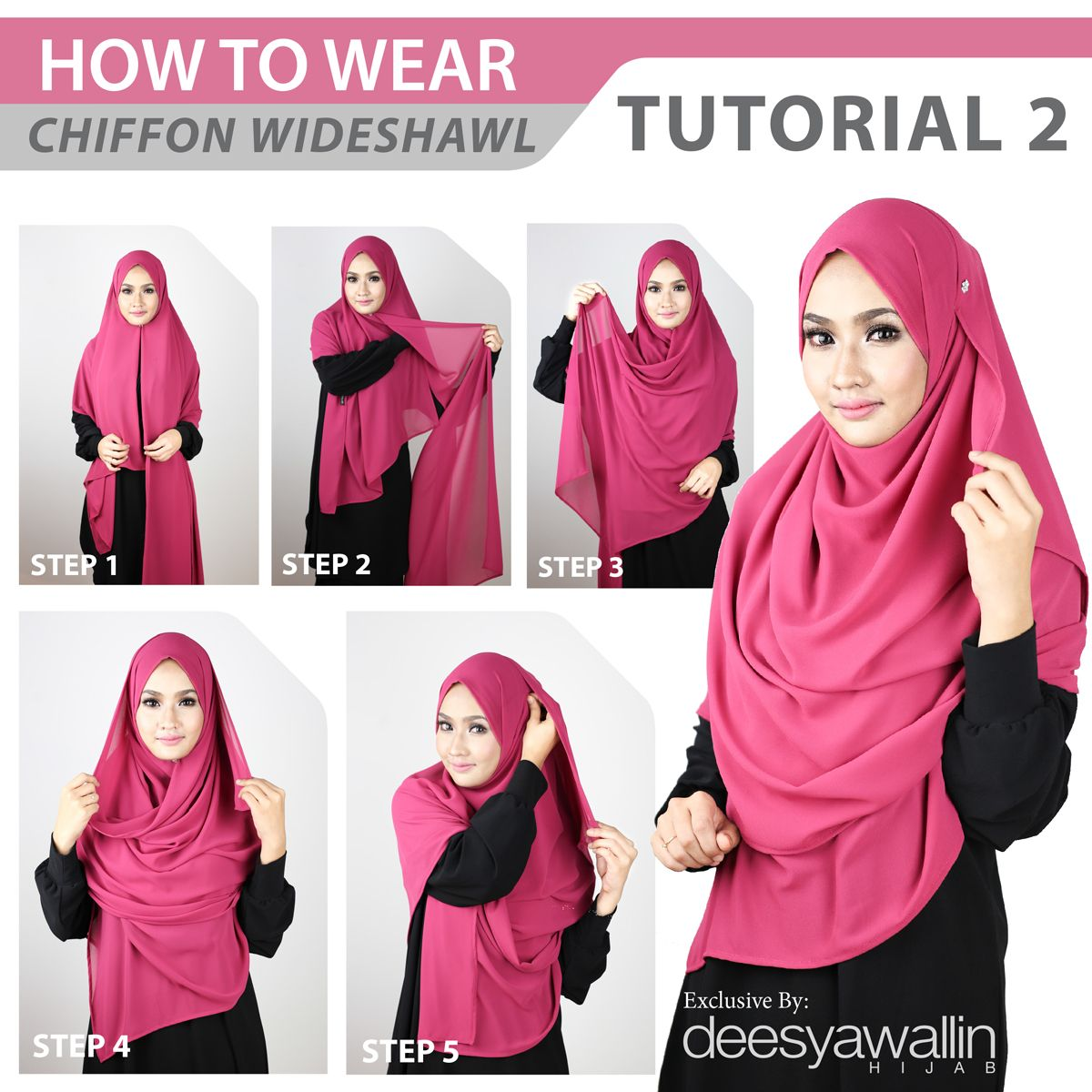 Wide Shawl Tutorials Hijab Tutorials Pinterest Shawl And