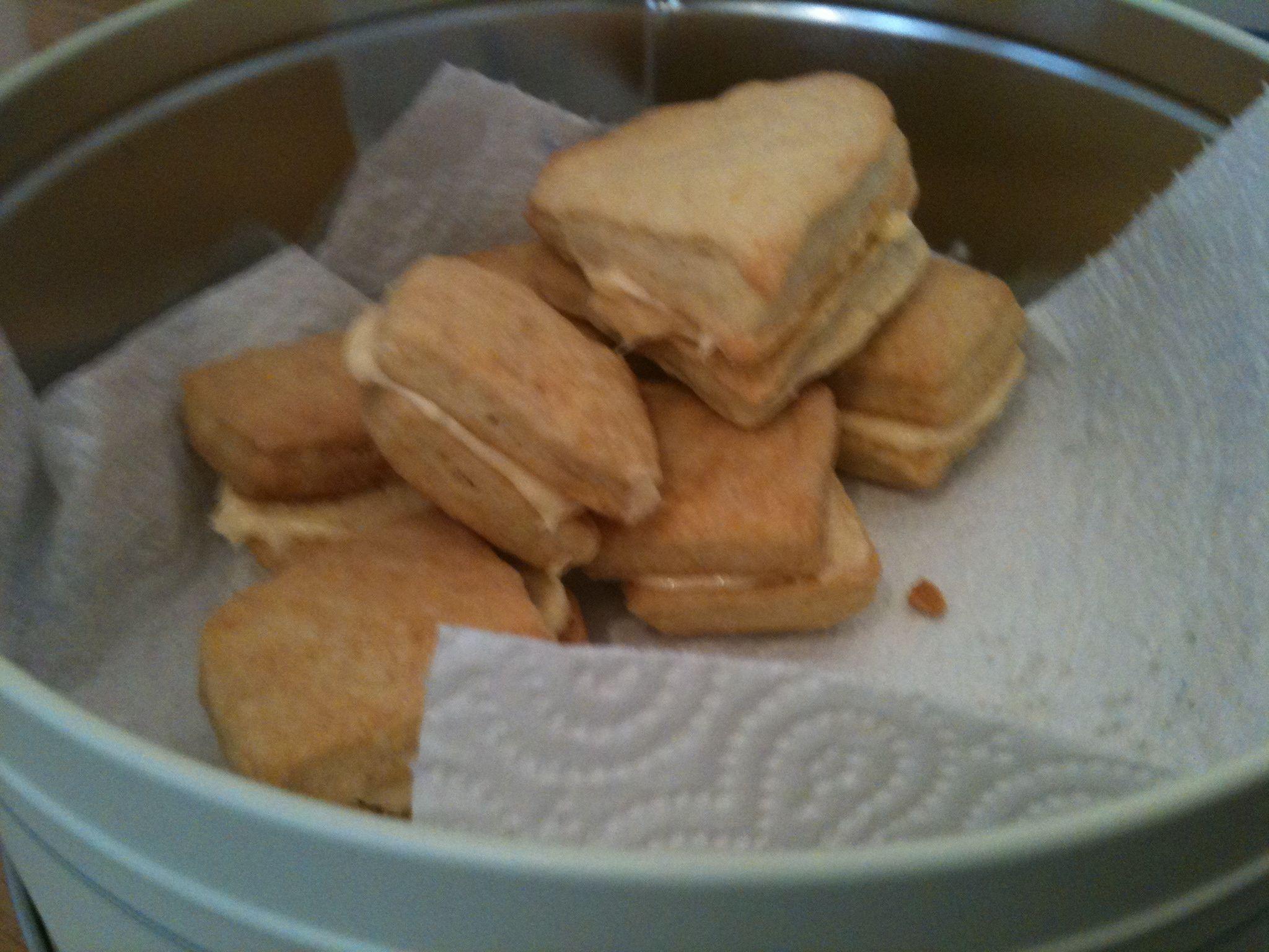 Homemade custard cream biscuits