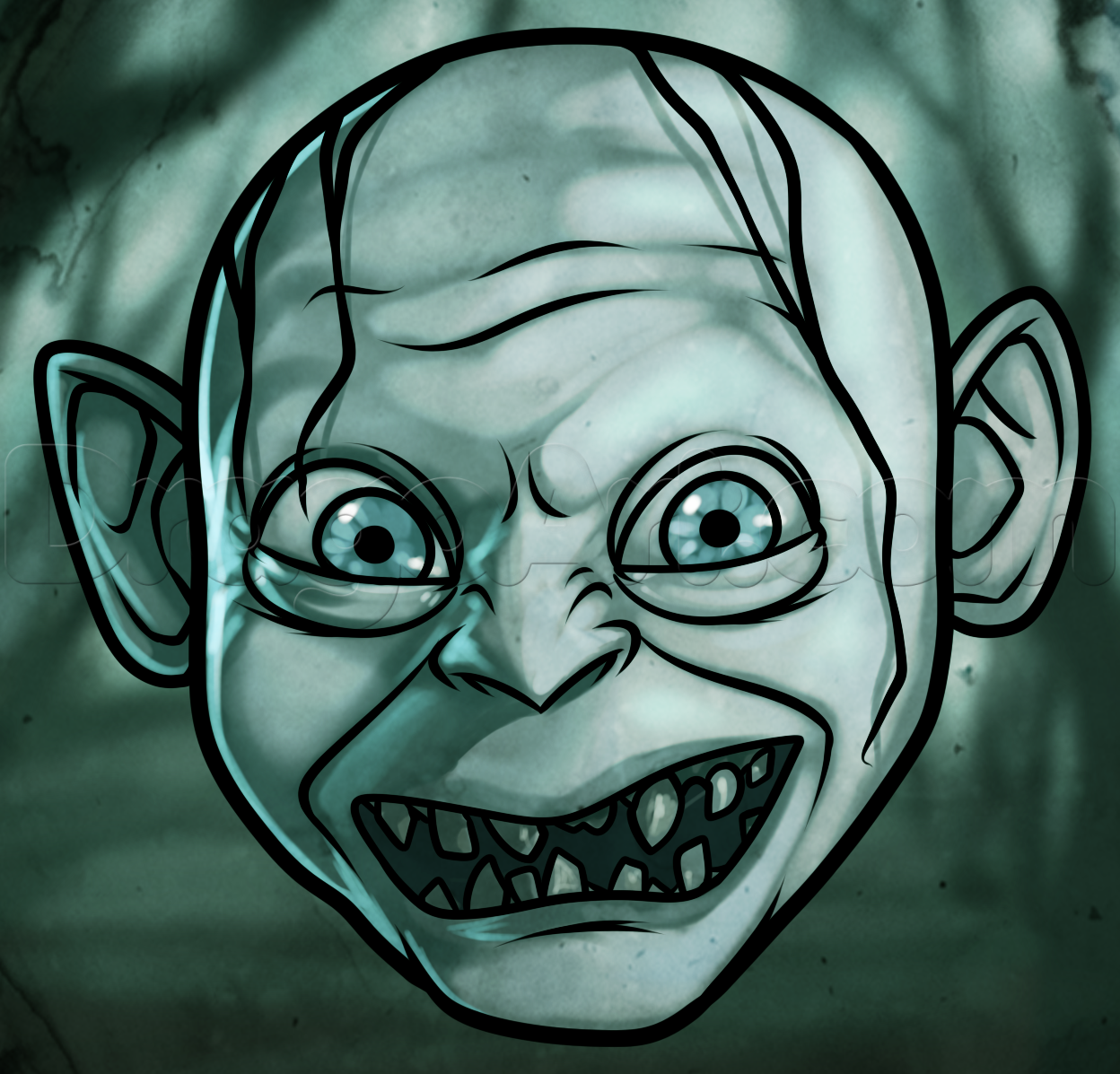 How To Draw Gollum Easy  Lord Of The Rings