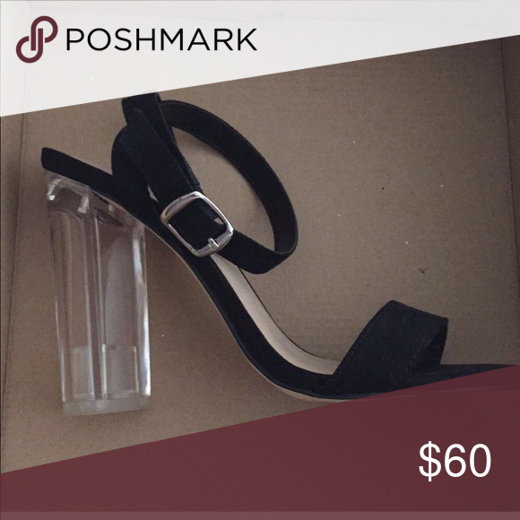 Black Sling Back Square Heel 💲 I am willing to sell for  35 w  FREE  SHIPPING 💲 See as described. See other listing. WORN ONCE. Mix No. 6 Shoes  Heels cf5e6b561c35