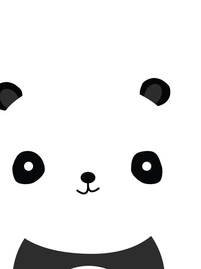 Cartoon panda!