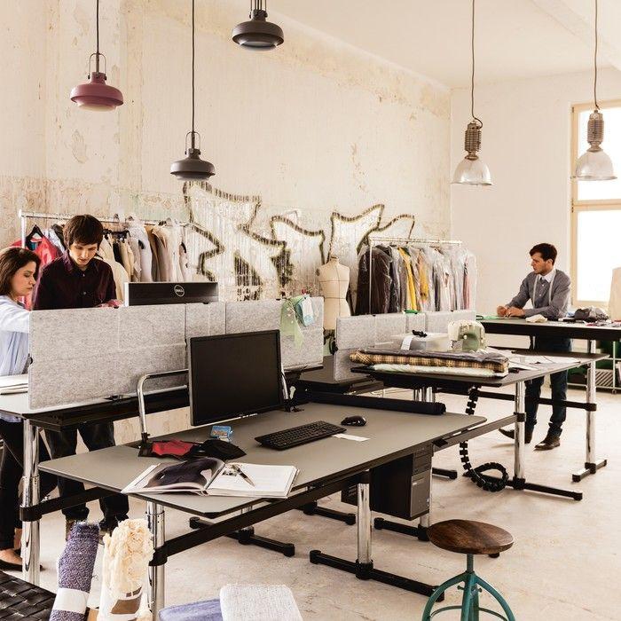 Desk sharing Büromöbel von USM Haller schaffen individuellen Raum ...