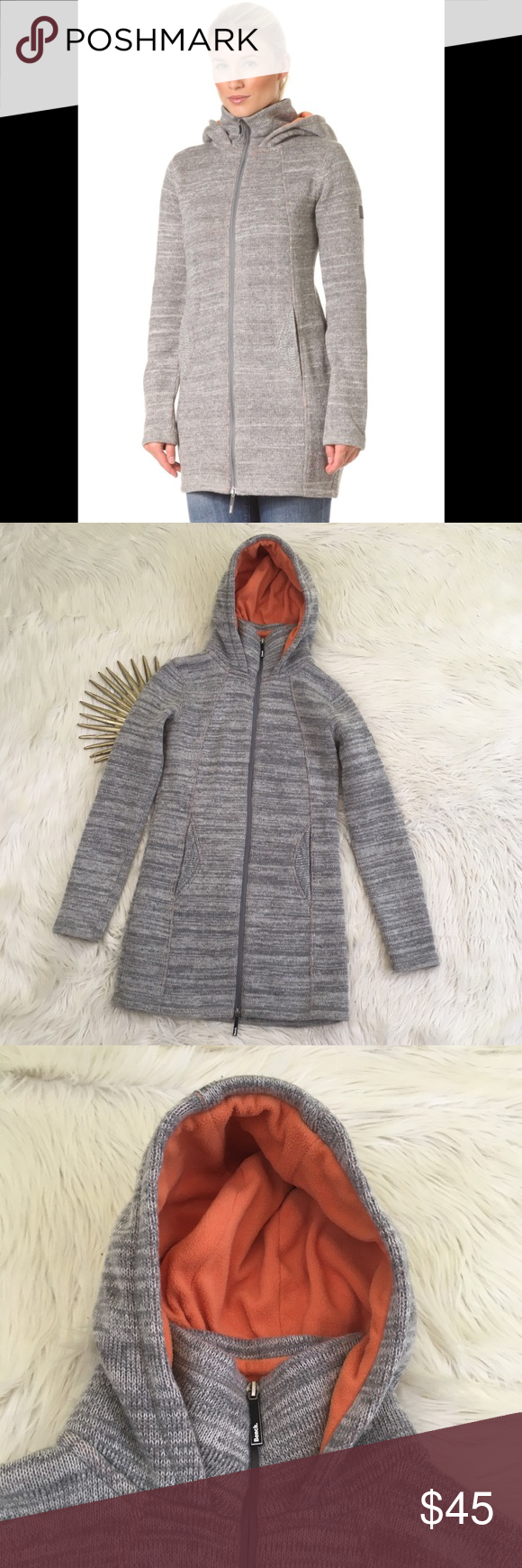 Bench Wool Blend Grey Gregory Hooded Knit Jacket Knit Jacket Knitted Hood Jackets [ 1740 x 580 Pixel ]