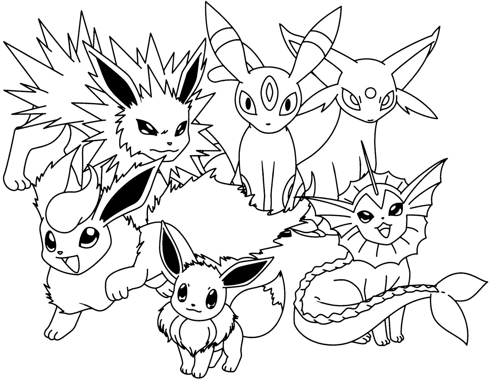 Pokemon Coloring Pages Eevee Evolutions Together Cartoon Coloring Pages Pokemon Coloring Pages Pokemon Coloring