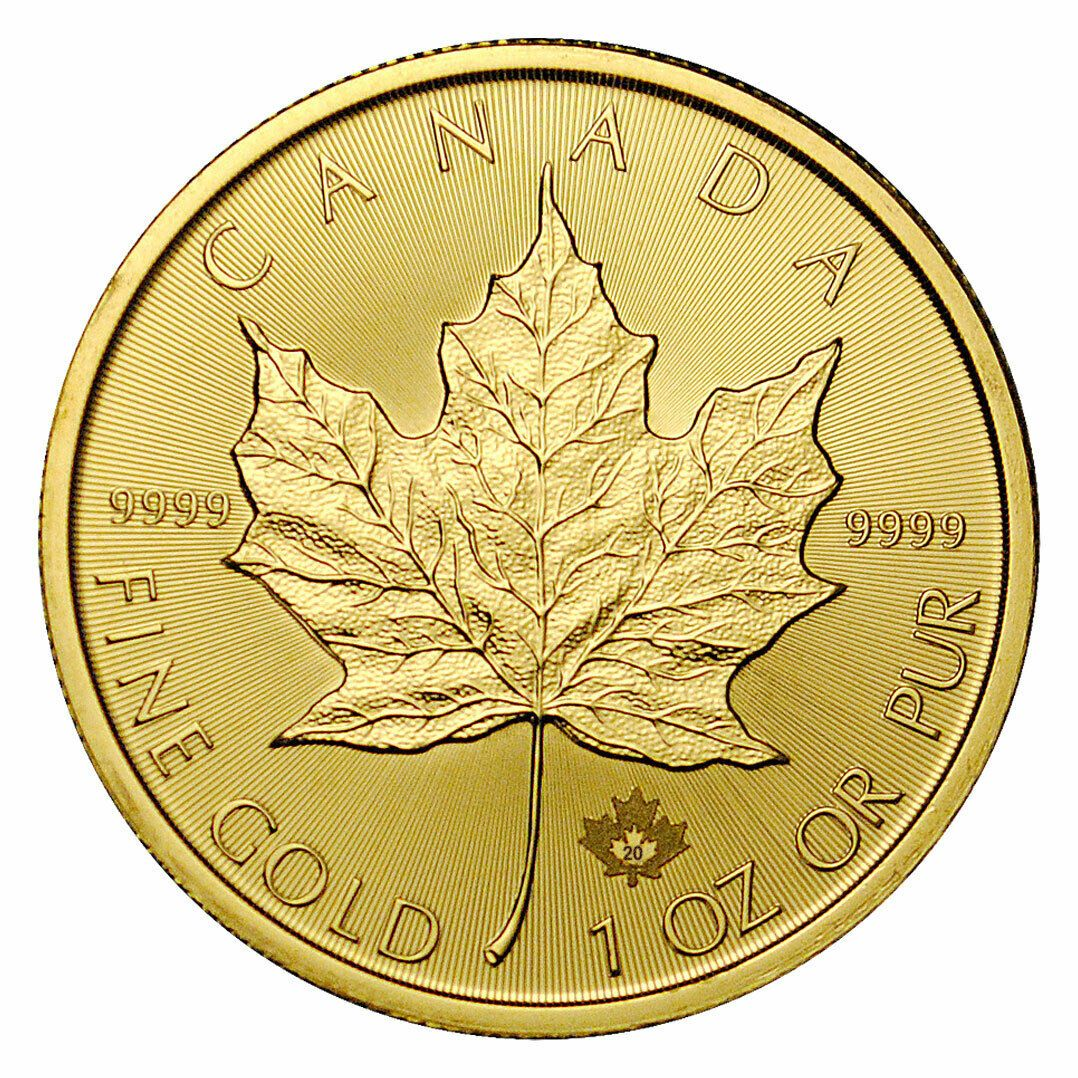 Details About Roll Of 10 2020 Canada 1 Oz Gold Maple Leaf 50 Coins Gem Bu Sku60068 Gold Bullion Coins Gold Coins