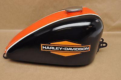 Vintage Harley Davidson Sportster Gas Fuel Tank Cj Harley Davidson Sportster Harley Bobber Gas Tank Paint