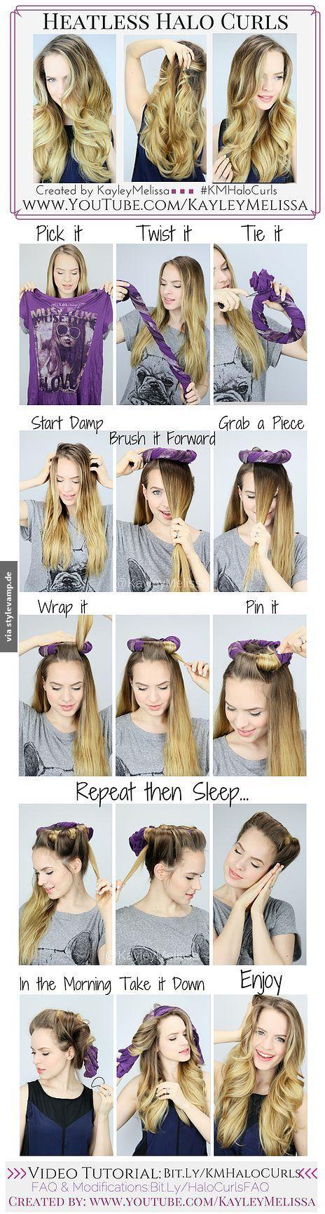Locken Wunder über Nacht Frisuren Pinterest Haar Ideen