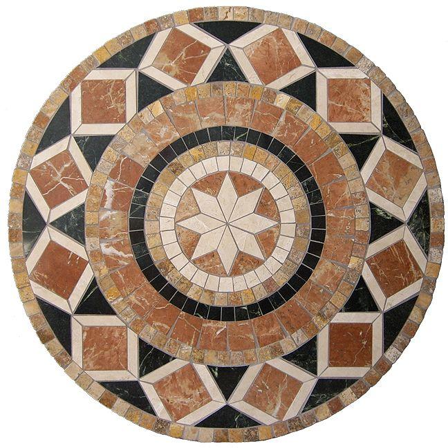 Bellagio Mosaic Stone Tile Table Top