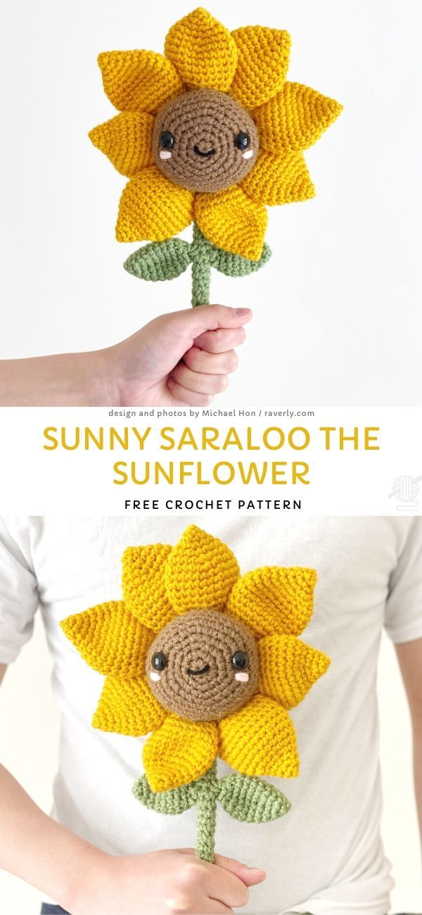 Photo of Sunny Saraloo the Sunflower Free Crochet Pattern
