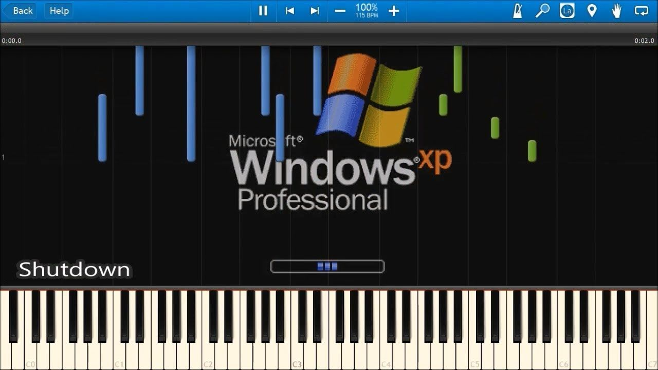 WINDOWS STARTUP AND SHUTDOWN SOUNDS IN SYNTHESIA   Music Record