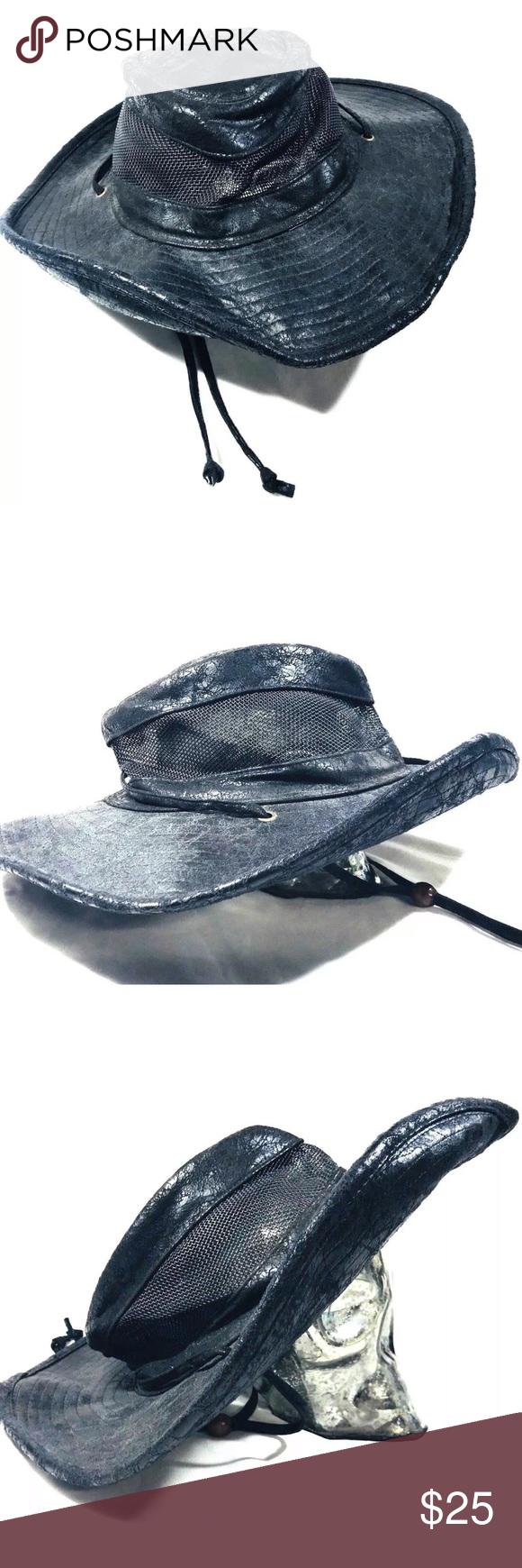 23ae3586c33af GoldCoast Sunwear Black Outback Wide Brim Sun Hat GoldCoast Sunwear Black  Outback Wide Brim Sun Hat