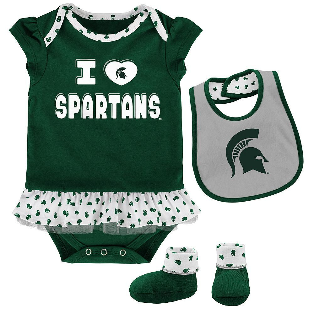 76642a3f2 Baby Michigan State Spartans Team Love Bodysuit Set, Infant Girl's, Size:  24 Months, Green Oth