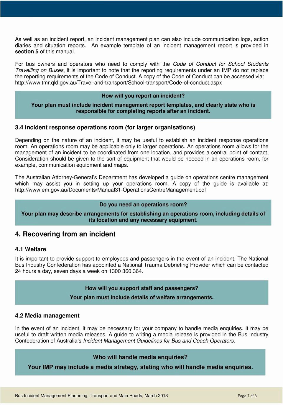 Incident Response Plan Template Sans In 2020 Business Continuity