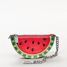 LEATHER WATERMELON POUCH CHARM...... I really want this!!!!