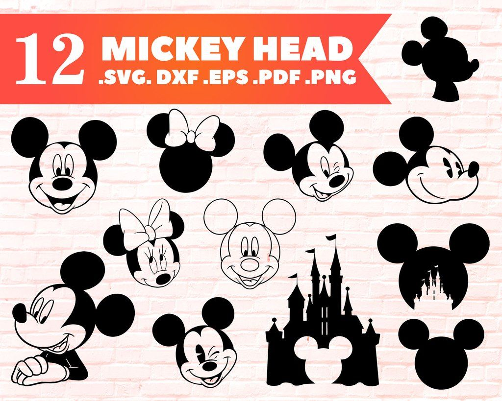 Download SVG Layered Love With Mickey Head Svg for Cricut