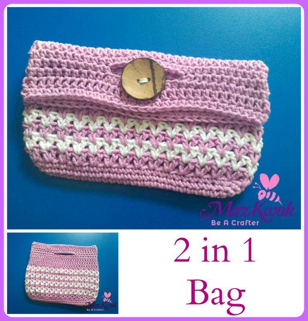 crochet 2 in 1 bag | Moogly Community Board | Pinterest | Tasche ...