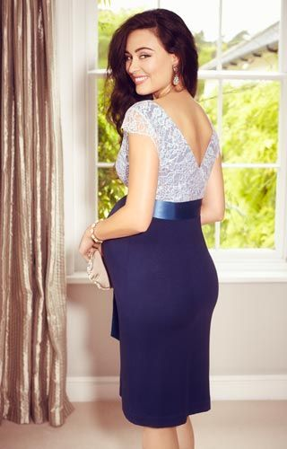 a4229bf05dc2b A dress to turn heads, our vintage inspired Rosa Dress is now available in  celestial Infinity Blue.