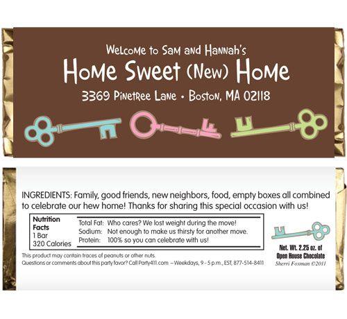 Housewarming Party Theme Candy Bar Wrapper Pass these candy bars – Funny Housewarming Party Invitations