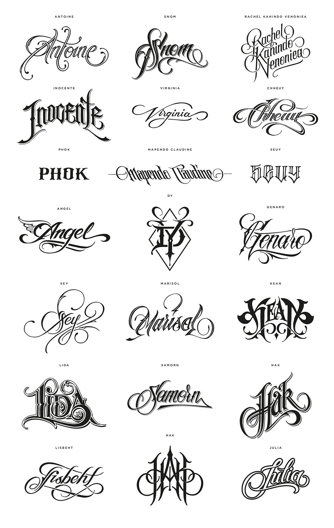 World Food Programme 805 Million Names On Behance Tattoo Name Fonts Name Tattoo Designs Tattoo Lettering