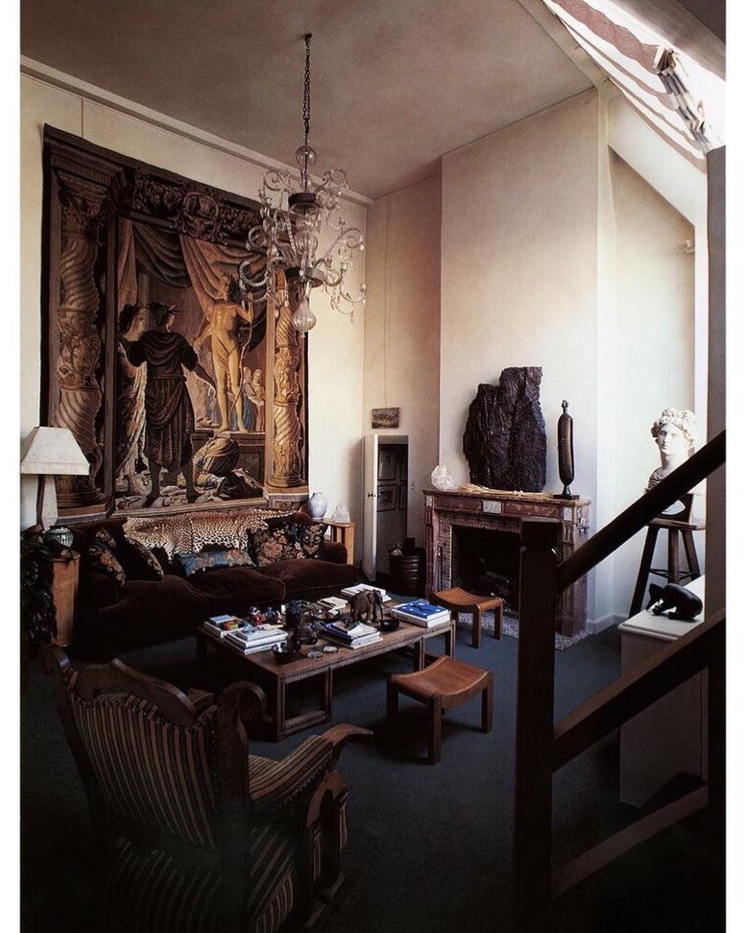 Camille Vergnes On Instagram Appartement De Pascal Greggory En 1988 Photo Par Philippe Girardeau Decoration Cheap Home Decor House Interior Dark Interiors