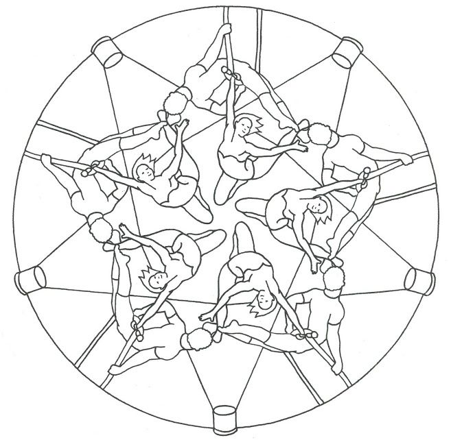 Mandala: Acrobaten! | Projekt: CIRKUS | Pinterest | Mandala and Album
